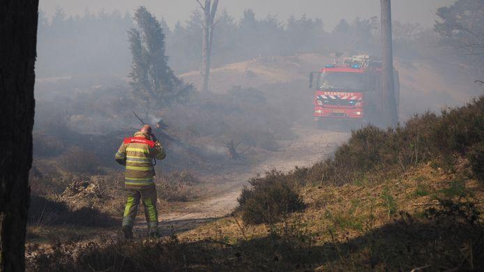 Natuurbrand vorig jaar in de Soester Duinen.