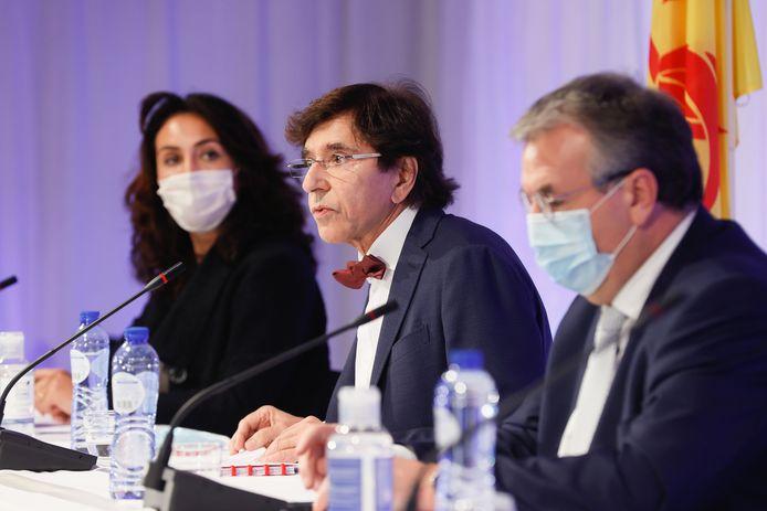 Elio Di Rupo et Pierre-Yves Jeholet, les ministres-présidents wallon et de la FWB.