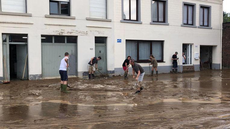 Hoegaarden kreeg donderdagavond zwaar af te rekenen met het onweer dat over ons land trok.