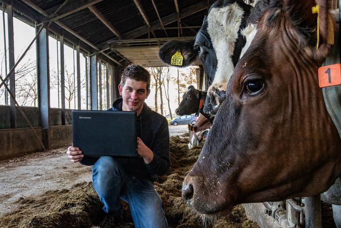 Michel Rodijk wil na zijn opleiding niet zelf tussen de koeien gaan staan, maar boeren ondersteunen met papierwerk en advies.