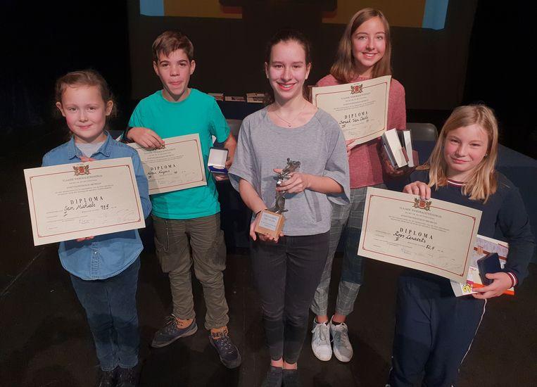 De winnaars van Dr. De Gruyter 2018 in Mechelen.