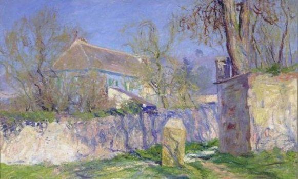 Het blauwe huis van Monet.