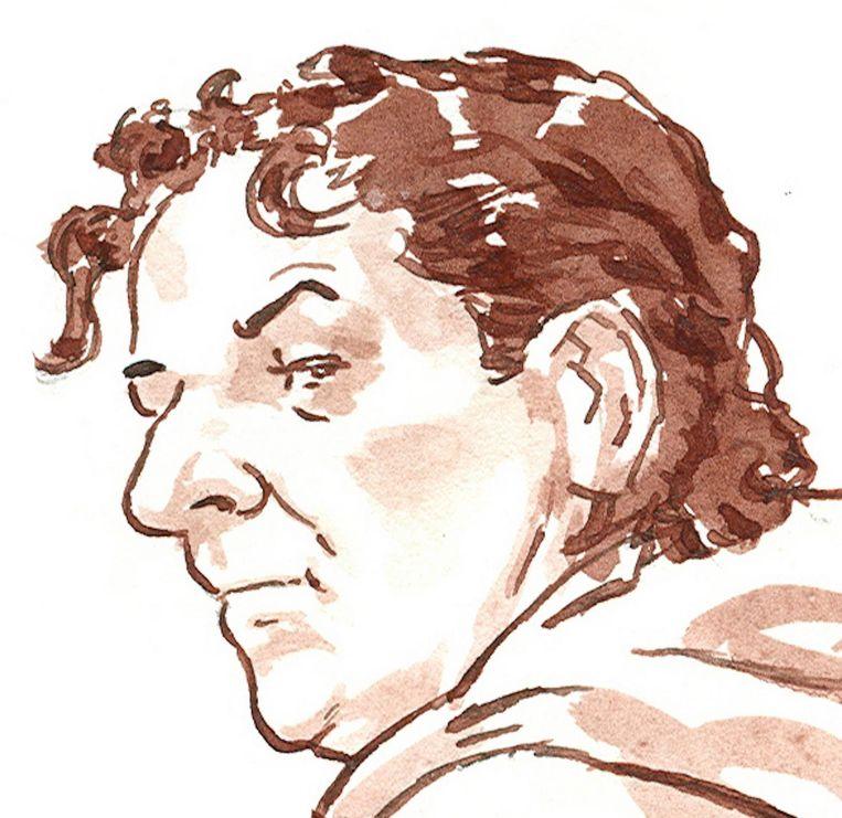 Sjaak B. in de rechtbank tijdens het Passage-proces in de Bunker in Amsterdam. Beeld anp
