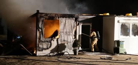 Uitslaande brand bij FietsCrossVereniging Veldhoven