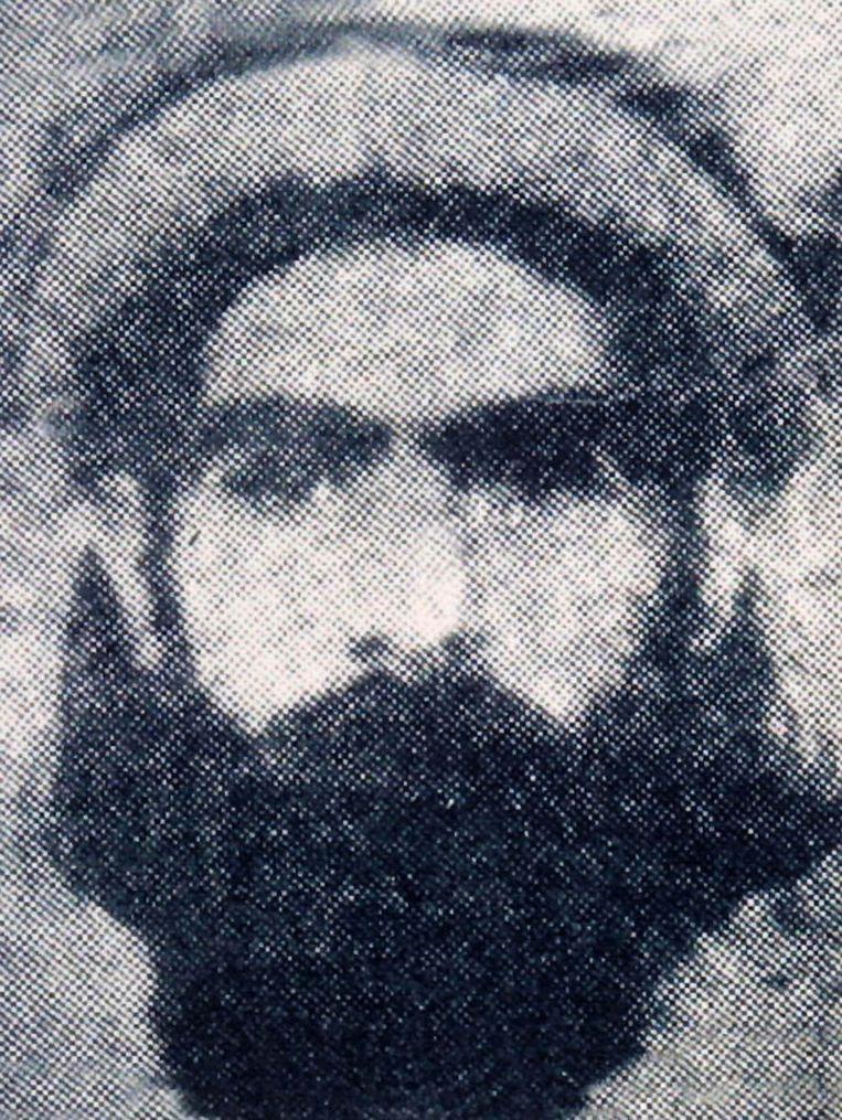 Een van de weinige foto's die bestaan van Mullah Omar. Beeld AP