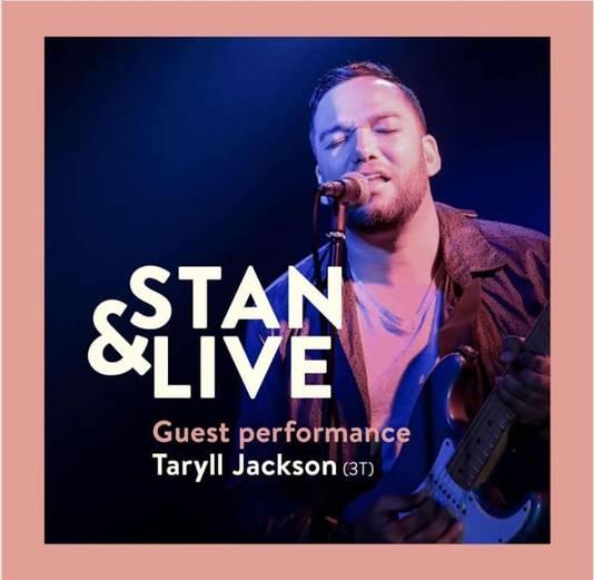 De aankondiging van Stan&Live met Taryll Jackson.