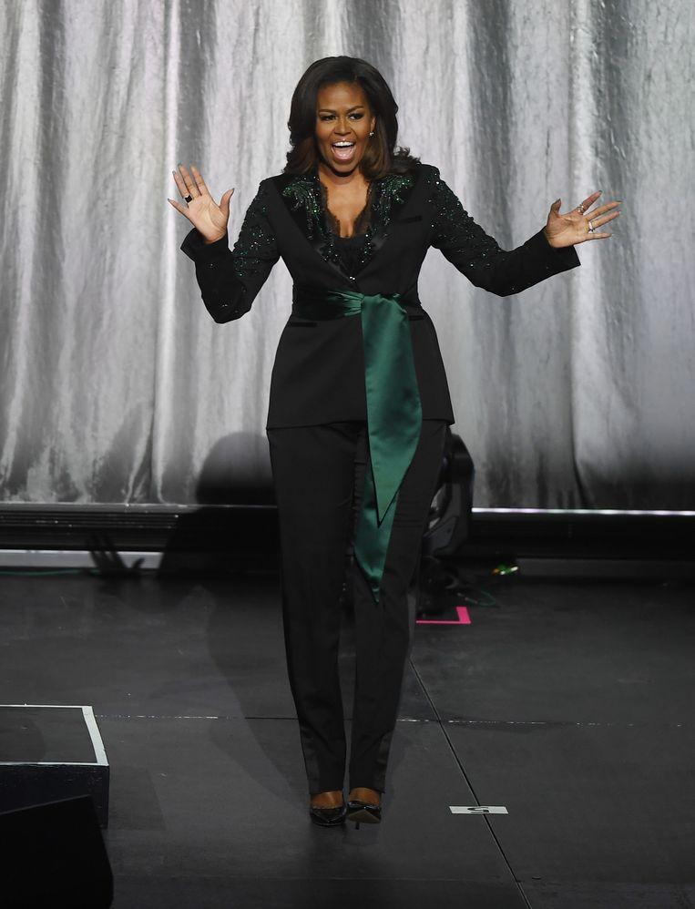 Michelle Obama in Oslo, vorig jaar. Beeld Getty