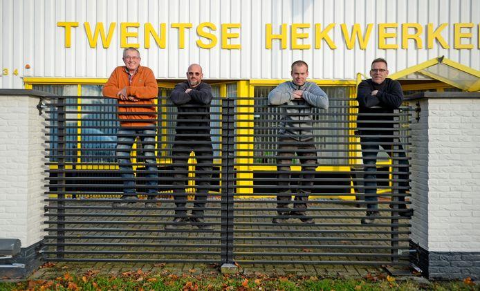vlnr, drie generaties THO:  oprichter Jan Leuwinga, zoon Rolf Leeuwinga, kleinzoon Peter Schmidt en schoonzoon Robert Schmidt