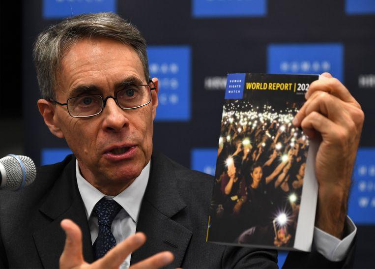 Kenneth Roth, de directeur van Human Rights Watch, stelde vandaag het Wereldrapport 2020 van de organisatie voor.