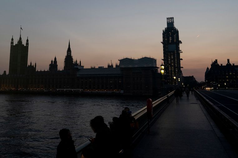 De Houses of Parliament in Londen,  gisterenavond.