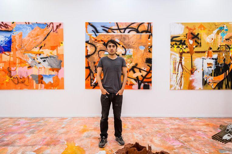 In de Rijksakademie verwelkomen de kunstenaars een weekendje alle bezoekers. Beeld Tammy van Nerum