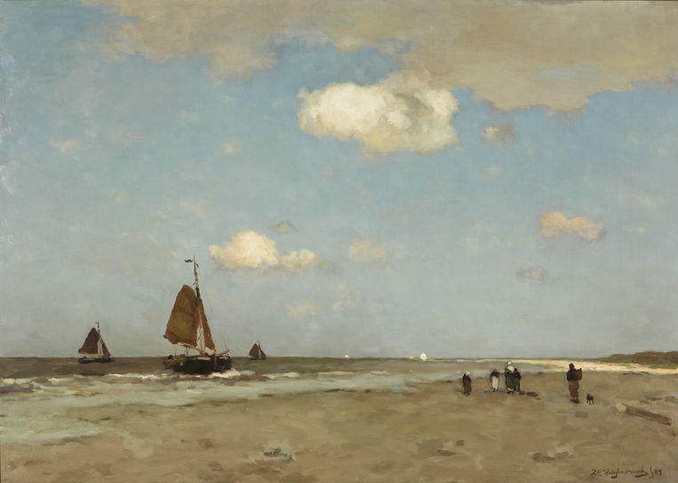 Weissenbruch, Strandgezicht. Uit de collectie van het Gemeentemuseum Den Haag Beeld Alice de Groot