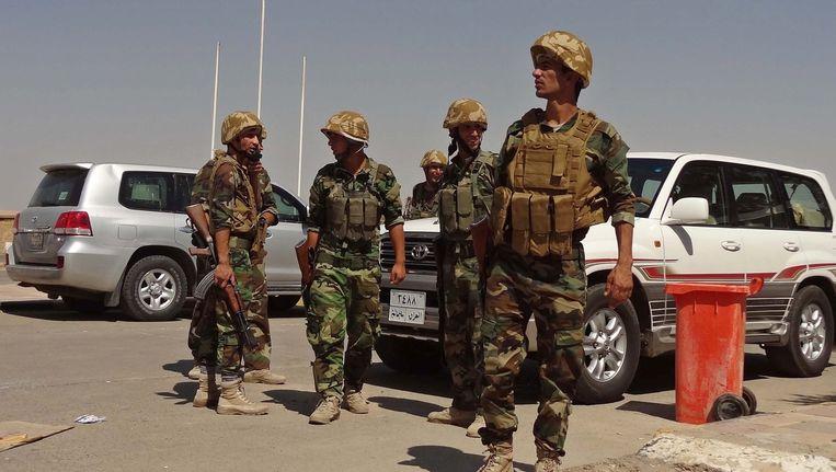 Koerdische soldaten in Kirkuk. Beeld epa