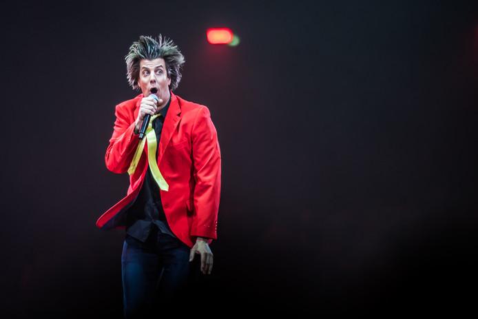 Snollebollekes op het podium in Arnhem tijdens een van de twee uitverkochte concerten eind maart 2019.