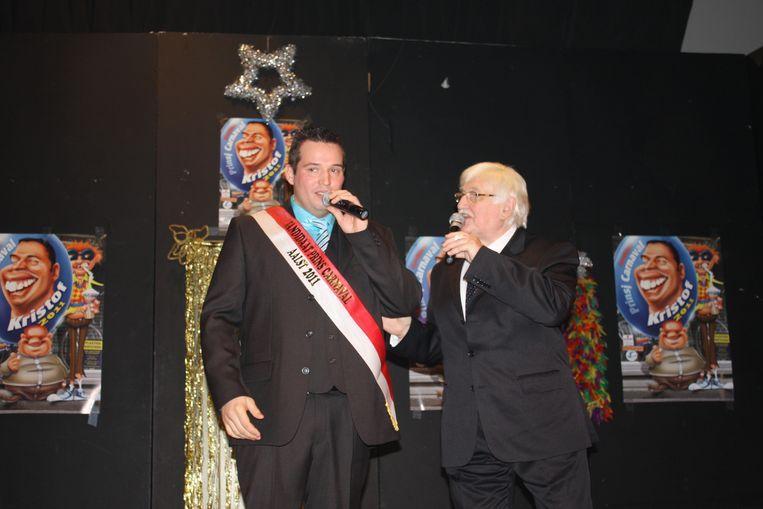 Uit het archief: Kristof Devos in 2011 op het Driekoningenfeest met Kamiel Sergant als presentator.