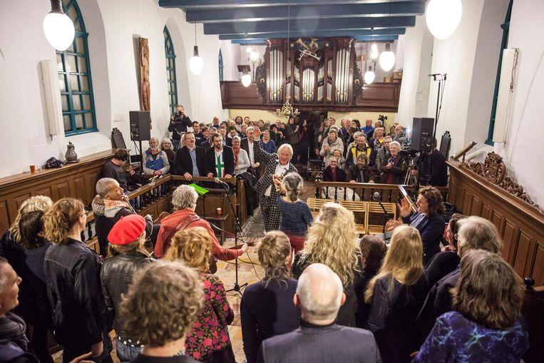 De kerk in Westernieland. Beeld Harry Cock.