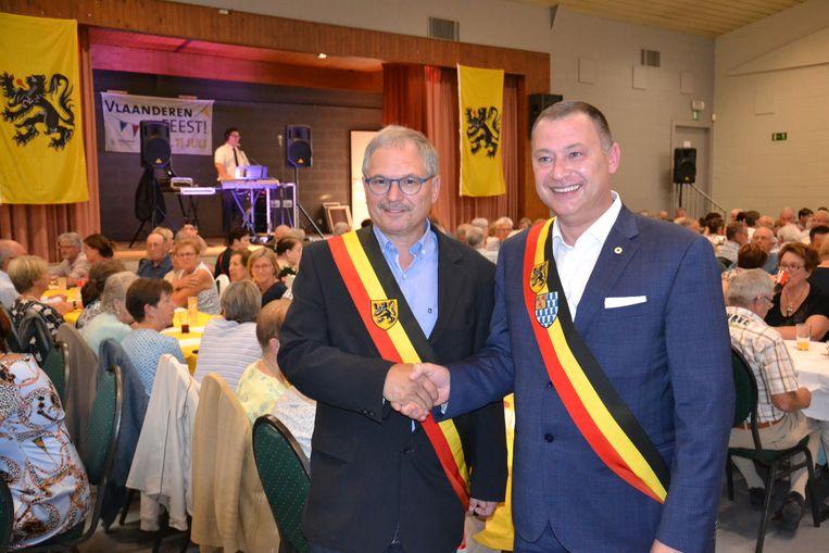 Burgemeester van Linter Marc Wijnants was te gast op de 11 juli-viering.