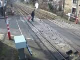 Roekeloos gedrag gefilmd op Belgisch spoor