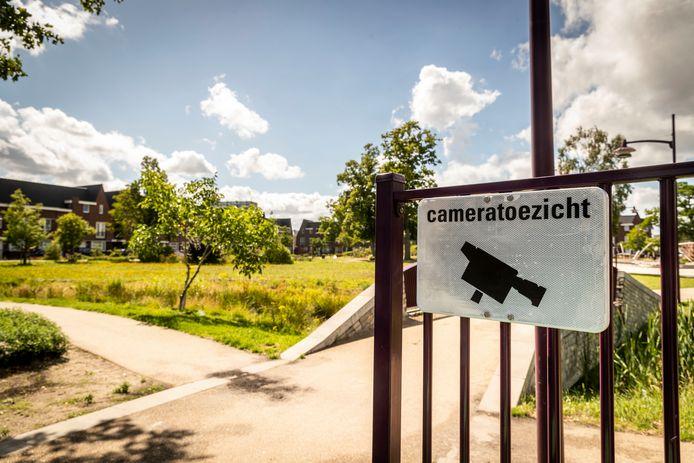 Eén van de ingangen van het Weverspark in de Helmondse binnenstad.