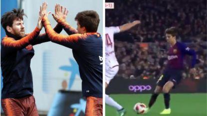Messi zag het al lang: Barça-wonderkind maakt furore bij debuut