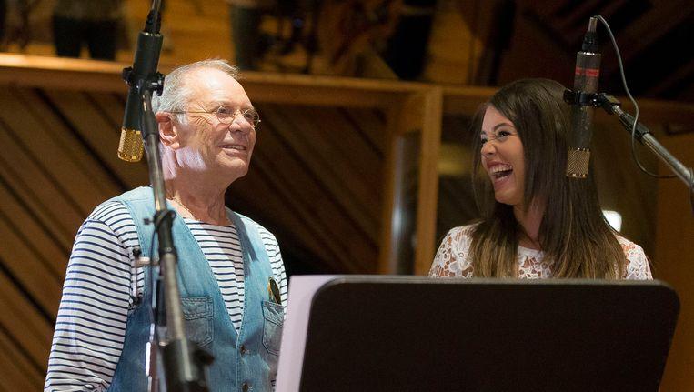 Rob de Nijs en Lissa Lewis nemen samen hun duet op in Nederland.