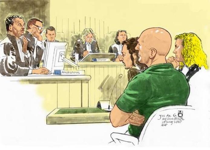 Jos de G. (voor, naast zijn advocaat Job Knoester).