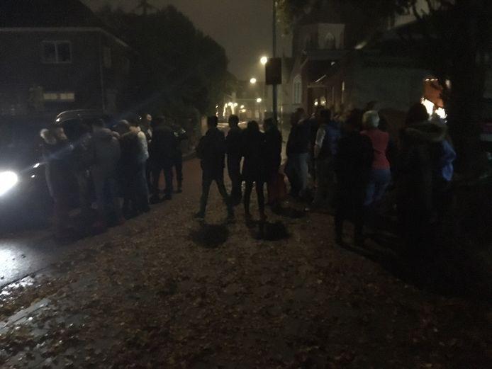 De vechtpartij brak uit bij het Horrorhuis in Oss.