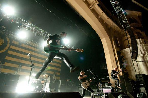 Rise Against, een van de toppers op zaterdag.