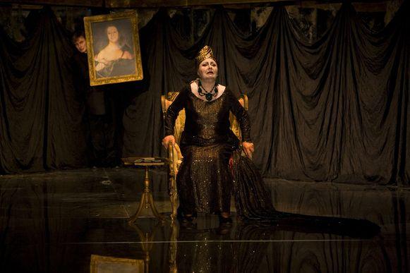 Rita Gorr in haar laatste rol van Gravin in de opera Pikovaya Dama van Pjotr. I. Tsjaikovski in Gent in 2007. Ze was toen 81.