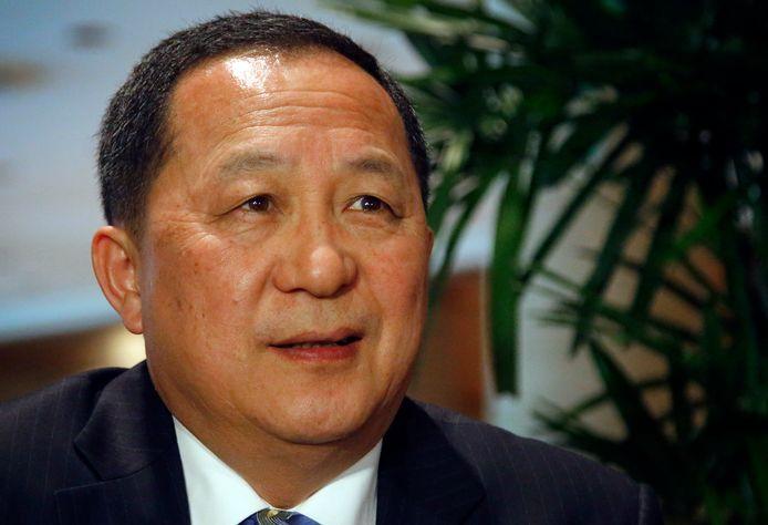 De Noord-Koreaanse minister van Buitenlandse Zaken Ri Yong-ho is klaar met zijn Amerikaanse ambtsgenoot