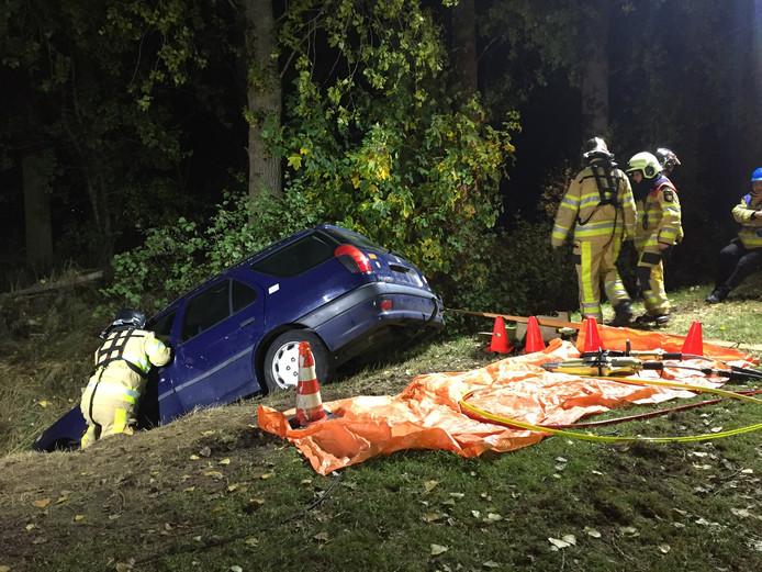 Oefening brandweerkorpsen in Wijhe
