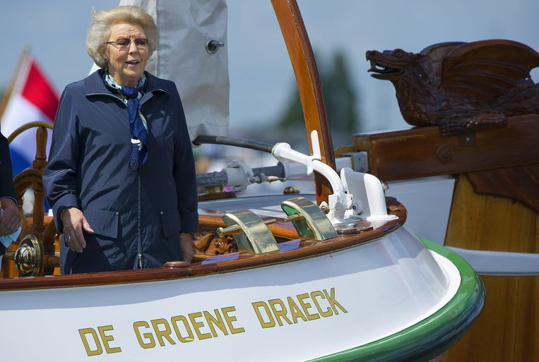 Prinses Beatrix op De Groene Draeck. Beeld anp