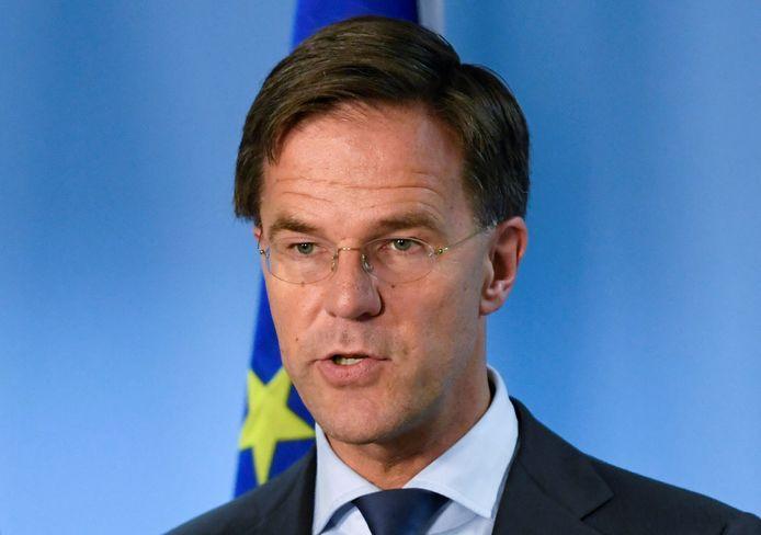 Premier Mark Rutte bij een top in Brussel vorige maand.