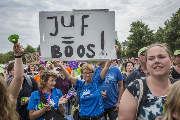Een eerder protest van docenten.