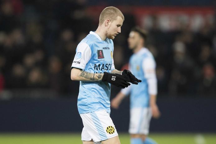 Feyenoord-huurling Simon Gustafson, het lichtpunt bij Roda dit seizoen.