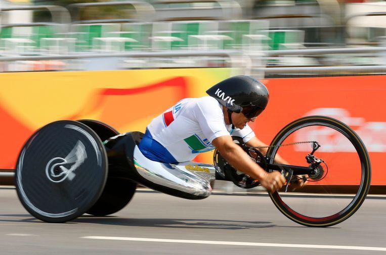 Zanardi op de Paralympics in Rio, in 2016.