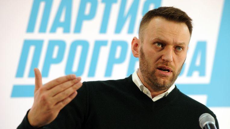 Navalny spreekt van een politiek proces.