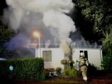 Geen gewonden bij chaletbrand op vakantiepark in Cromvoirt