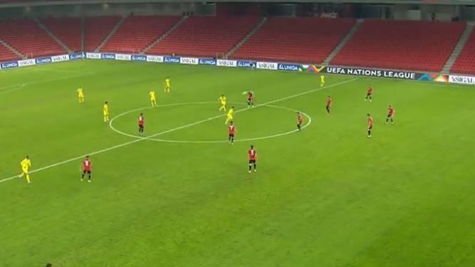 Wát een curve: knapste goal van de avond in de Nations League viel meteen na aftrap in Albanië