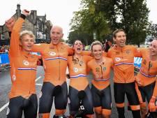 Oranje pakt goud bij WK wielrennen met mixed team relay