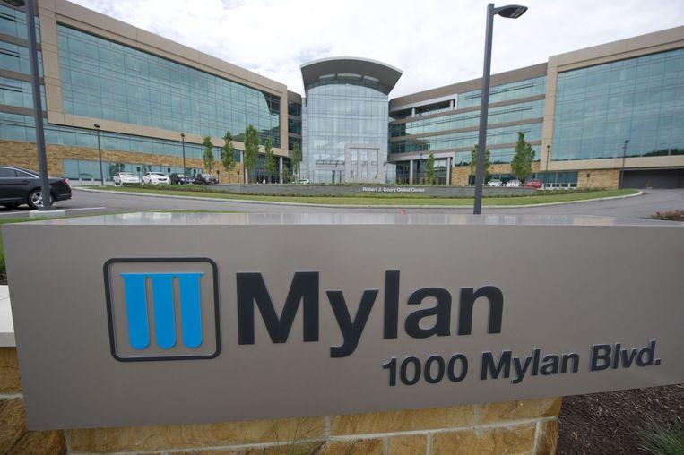 Het hoofdkantoor van Mylan in Pennsylvania. Beeld null