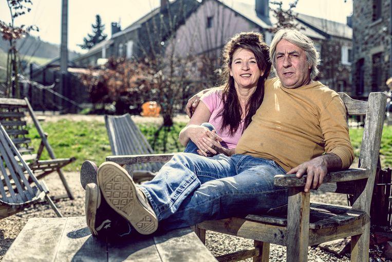 Eddy Planckaert en zijn vrouw Christa.