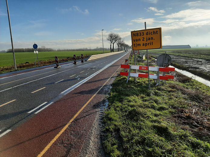 Er wordt nu gewerkt aan een nieuw vrijliggend fietspad langs de N833 tussen Buurmalsen en Culemborg