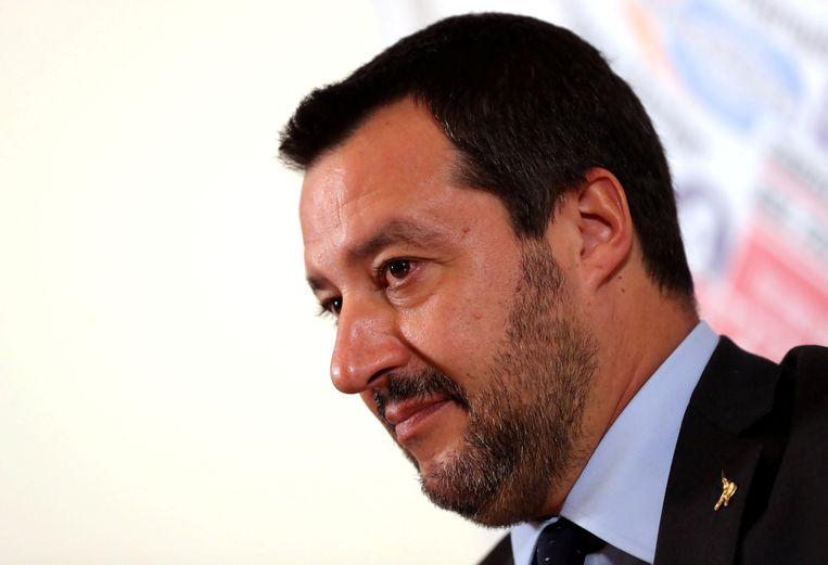 De Italiaanse vicepremier en minister van Binnenlandse Zaken Matteo Salvini.