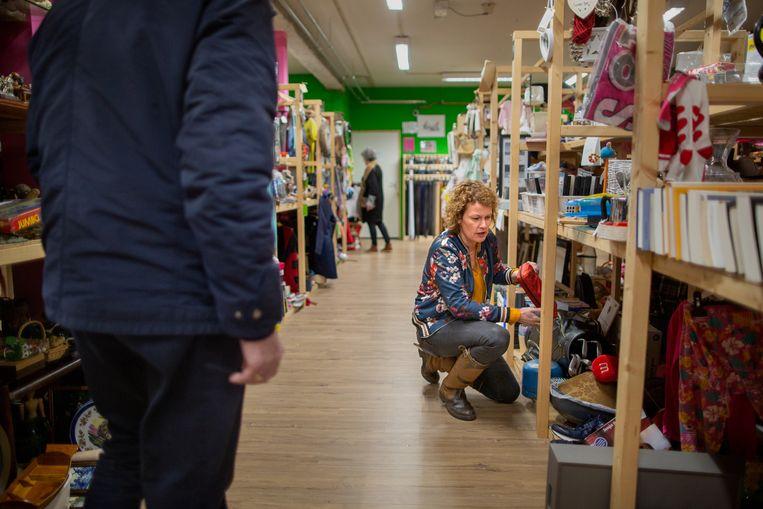 Annemarie van Beekhuizen in Jouw Marktkraam Nunspeet Beeld Herman Engbers