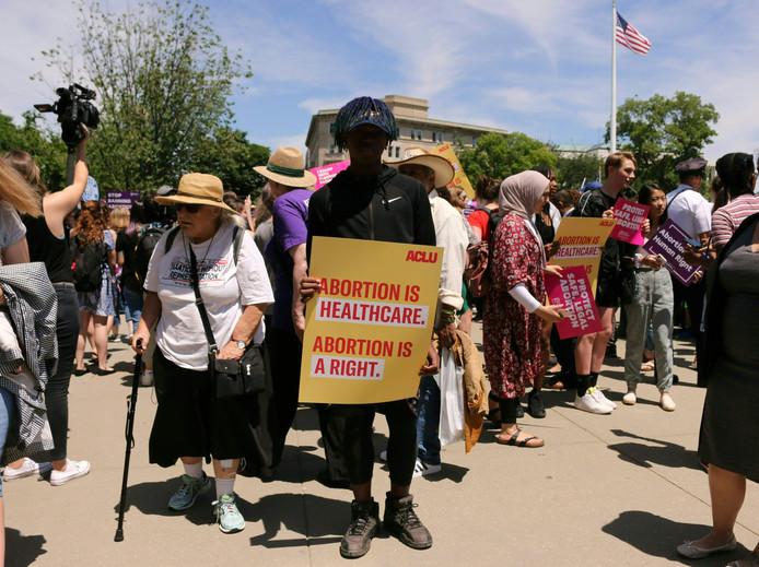 Protesten tegen de abortuswetten in Washington D.C.