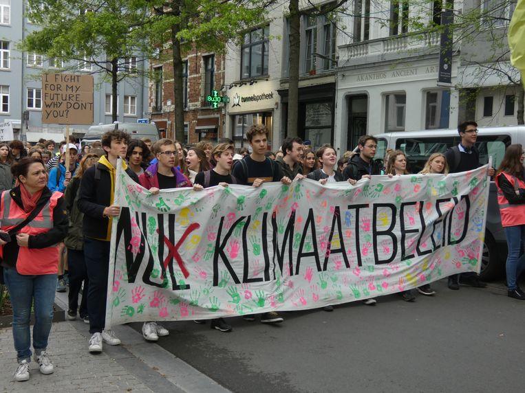Honderd actievoerders daagden op in de Antwerpse binnenstad.