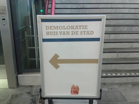 Voor de actievoerders die tegen Zwarte Piet zijn, is er een speciale locatie in de stad.
