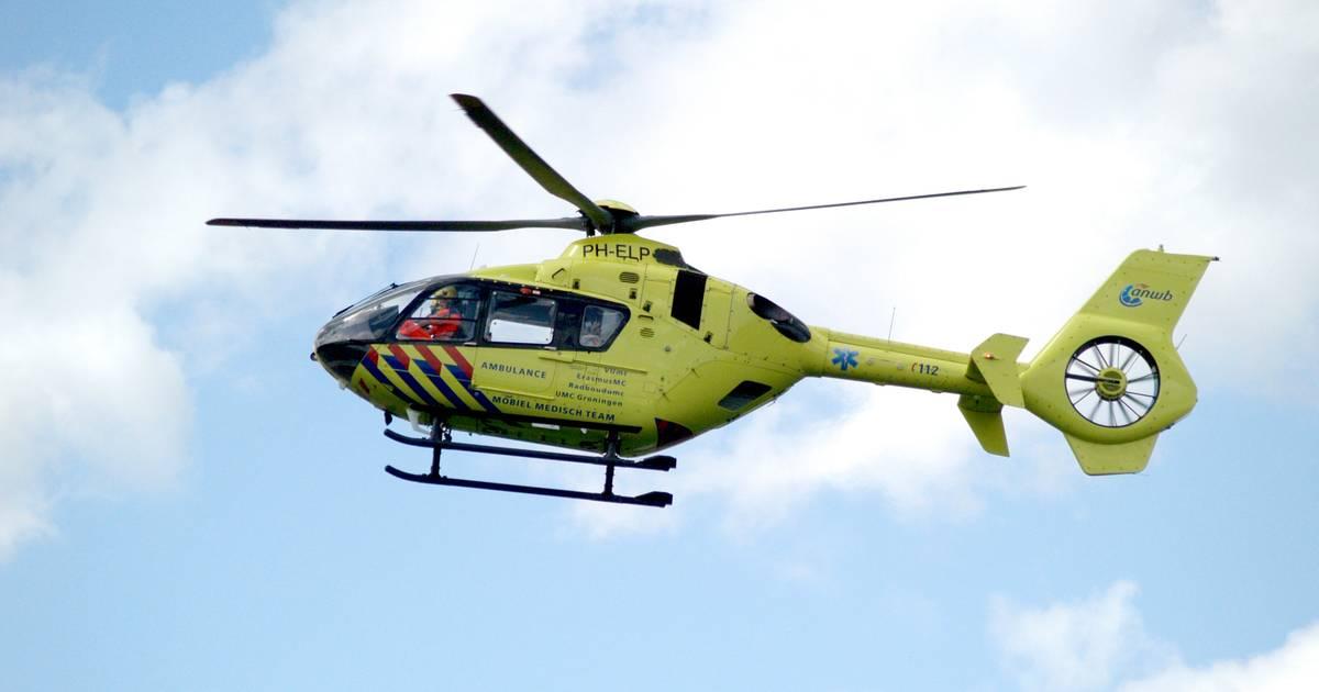 Traumahelikopter opgeroepen voor ongeluk bij knooppunt Empel, verbindingsweg dicht.
