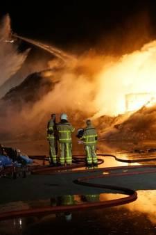 Brand meester bij afvalverwerker Ter Horst in Varsseveld
